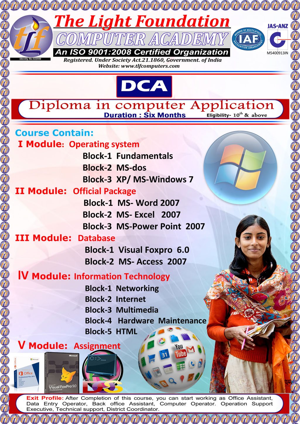 Tlf computers courses diploma in computer applicationdca diploma in computer applicationdca xflitez Gallery
